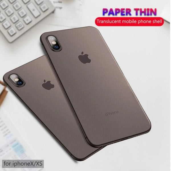 Case & Strap - Thin Transparent 0.3mm Matte Back Cover Phone Case For iPhone 11 11Pro 11Pro MAX X XR XS MAX 8 5 6 6S 7 Plus