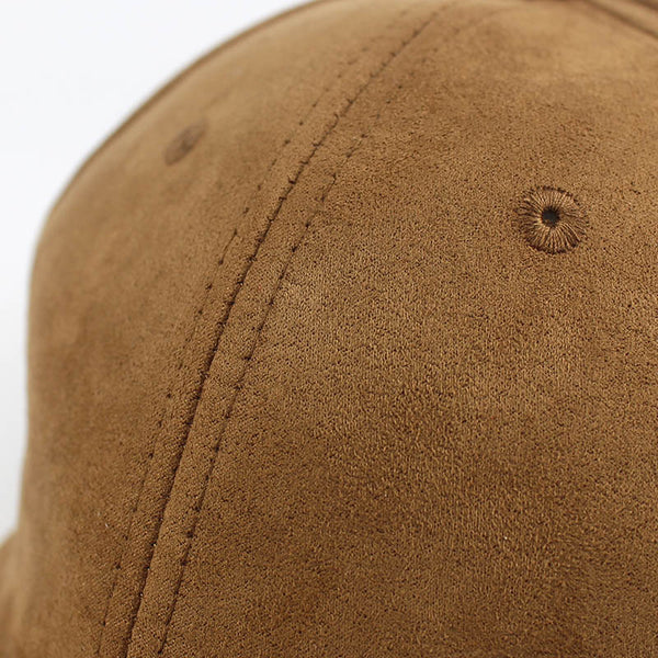 Fashion Man Adjustable Soft Suede Baseball Cap Casual Solid color Hat