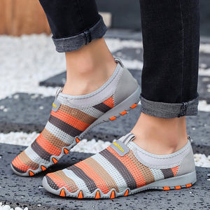 Women Flats Summer Casual Mesh Slip On Shoes