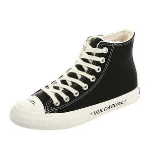 Women's Shoes - Fashion Skateboard Style High-Top Sneakers
