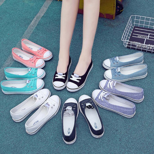 Summer Plus Size Slip On Canvas Shoes