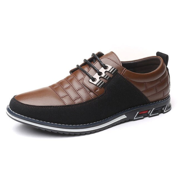 Fashion Casual Big Size Oxfords Leather Men Slip On Formal Business Dress Shoes