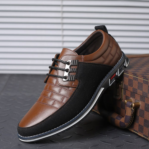 Fashion Casual Big Size Oxfords Leather Men lace up Formal Business Dress Shoes