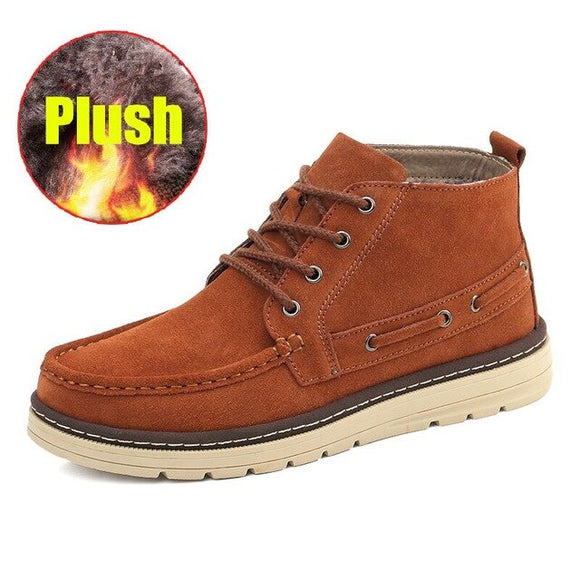 Shoes - Casual Autumn Winter Cow Suede Leather Men's Boots
