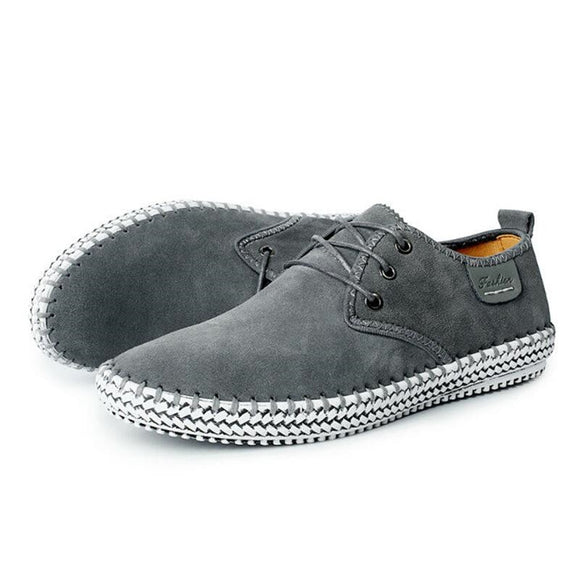 Shoes - Genuine Suede Leather Mens Oxford Shoes