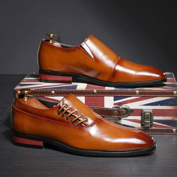 Fashion Classic Leather Business Dress Men Oxfords Shoes