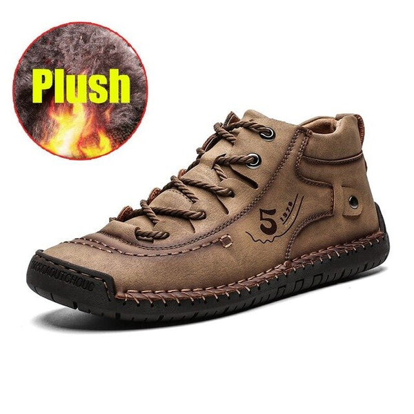 Casual British Style Comfortable Men Fashion Soft Flat Walking Shoes