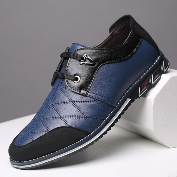 Fashion Lace Up Formal Casual Men Oxford Leather Shoes
