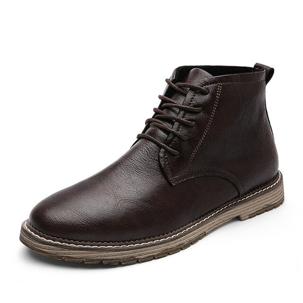 Shoes - Autumn Winter Comfortable High Quality Men's Genuine Leather Ankle Boots