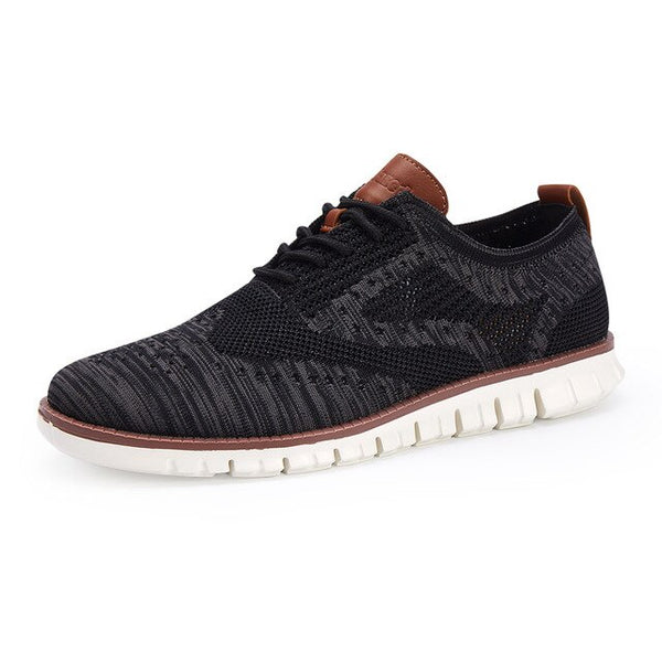 Casual Comfortable Lace Up Lightweight Knitted Mesh Breathable Shoes