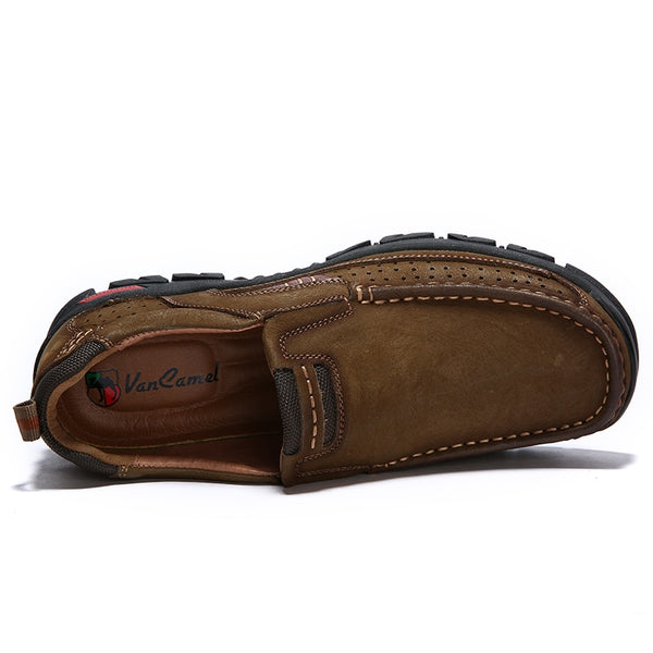 Shoes - Casual Stylish Men Genuine Leather Moccasin Sneakers Shoes