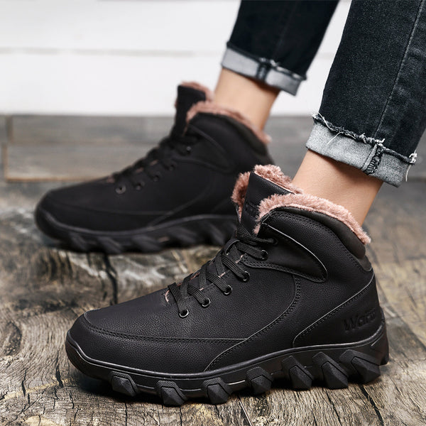 Shoes - Men High Quality Fashion Ankle Warm Snow Boots