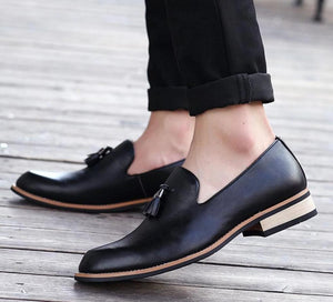 Shoes - Luxury Brand Pointed Toe Business Brogue Shoes