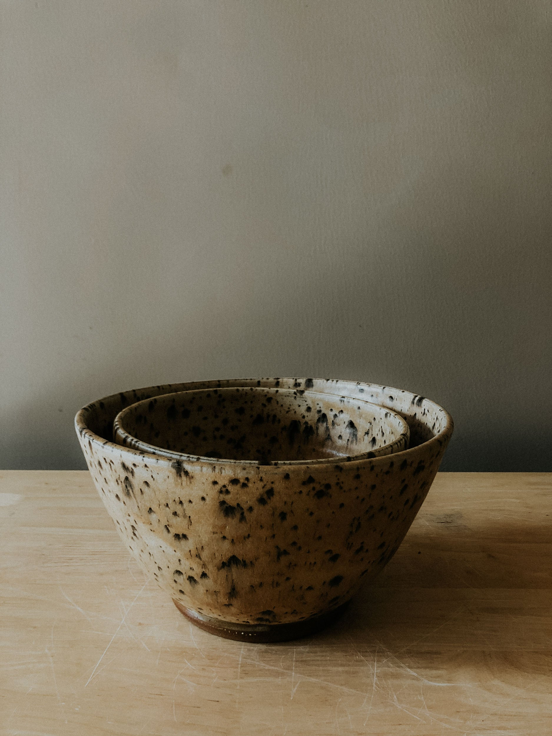 Large Two Piece Nesting Bowls - Split Rock