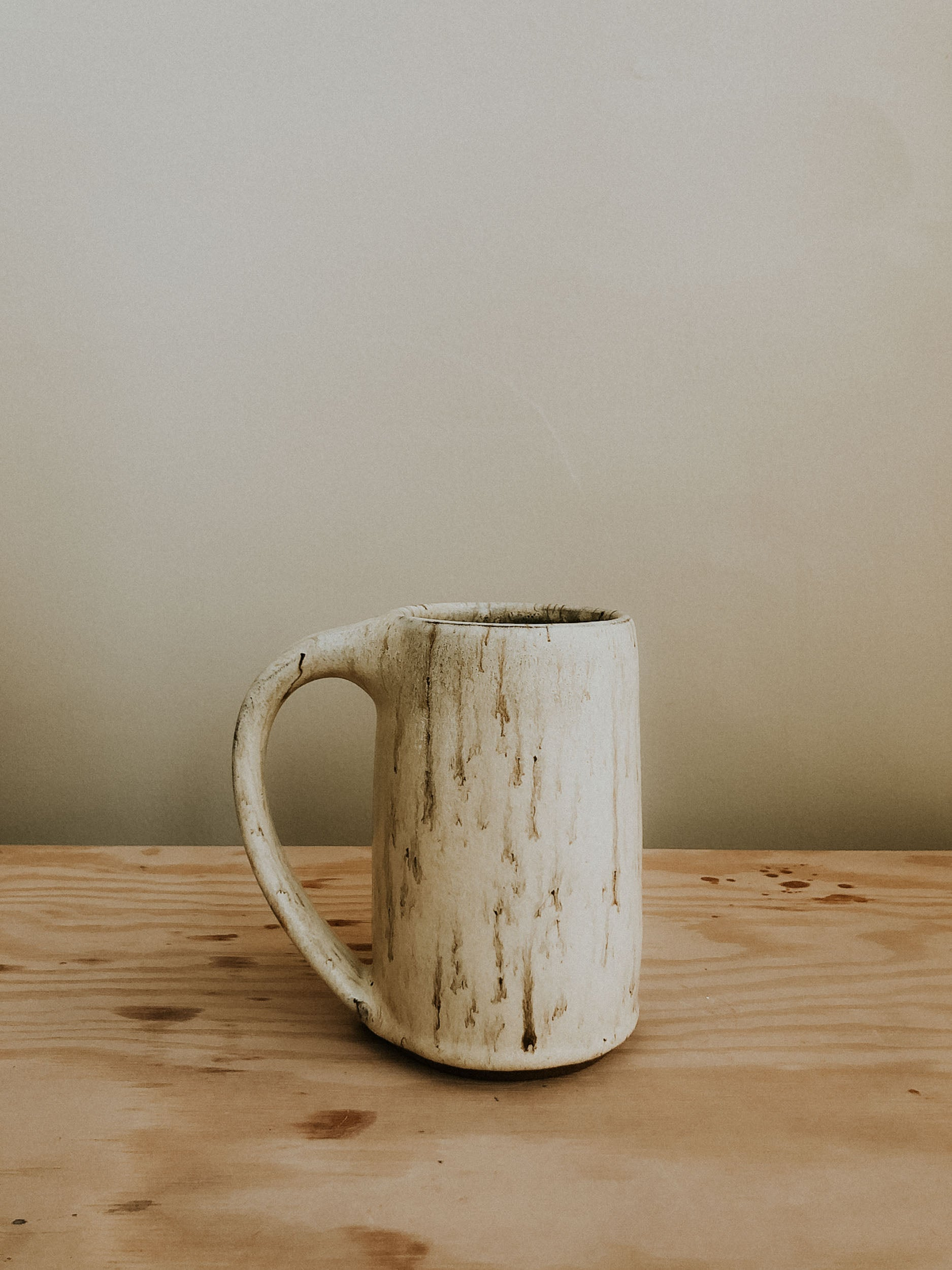Tall Mug - Satin Cream Swirl
