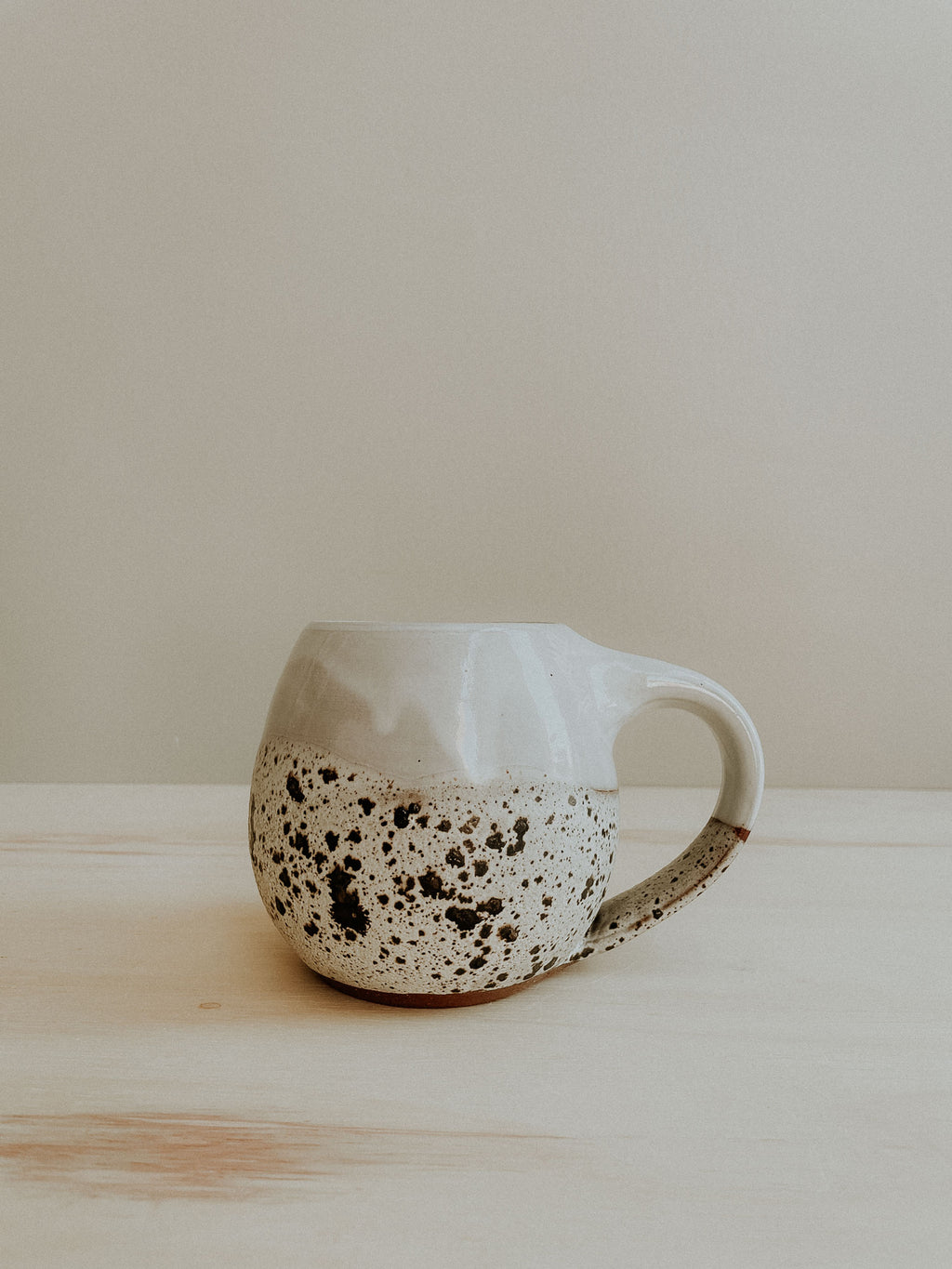 Round Mug - Gloss White x Birch Lake
