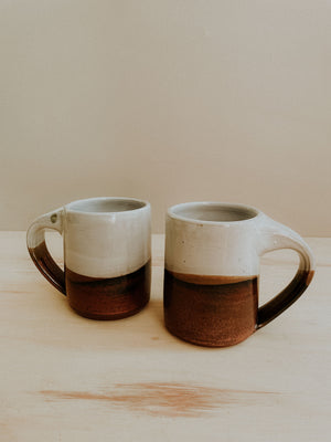 Middle Mug - White Gloss x Copper