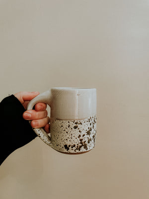 Middle Mug - White Gloss x Birch Lake