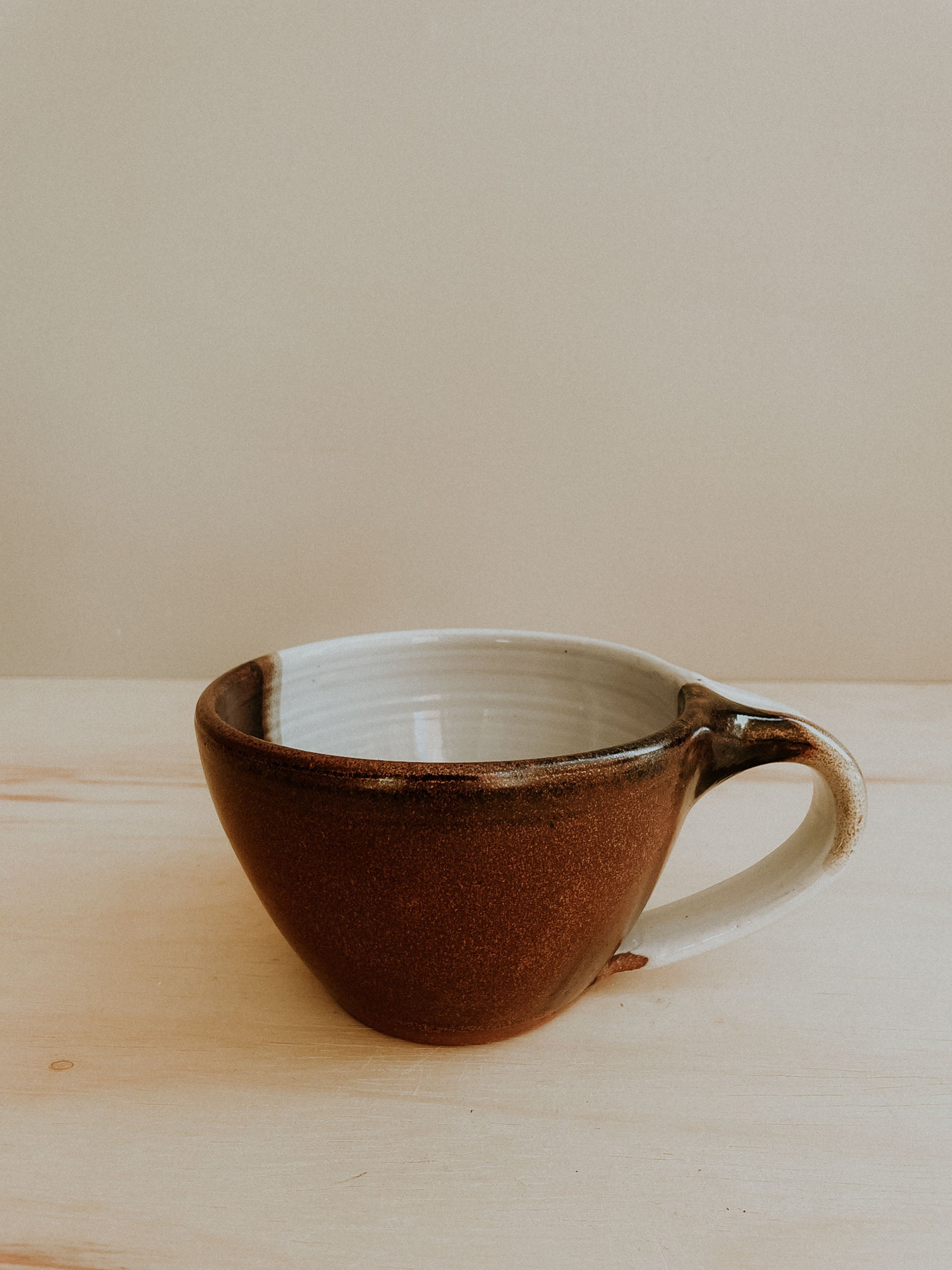 Soup Mug - White Gloss x Copper