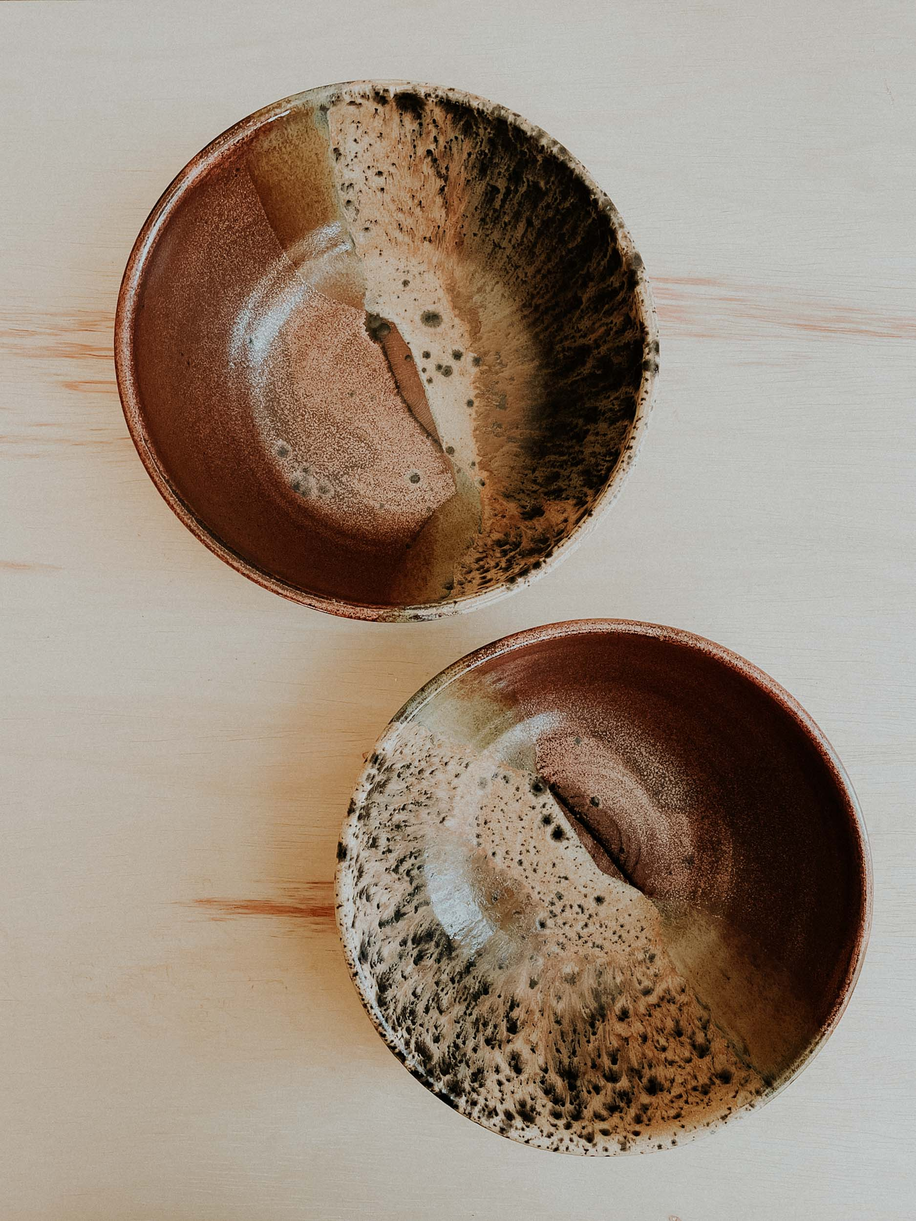 *Set of Two* Pasta Bowls - Copper x Split Rock