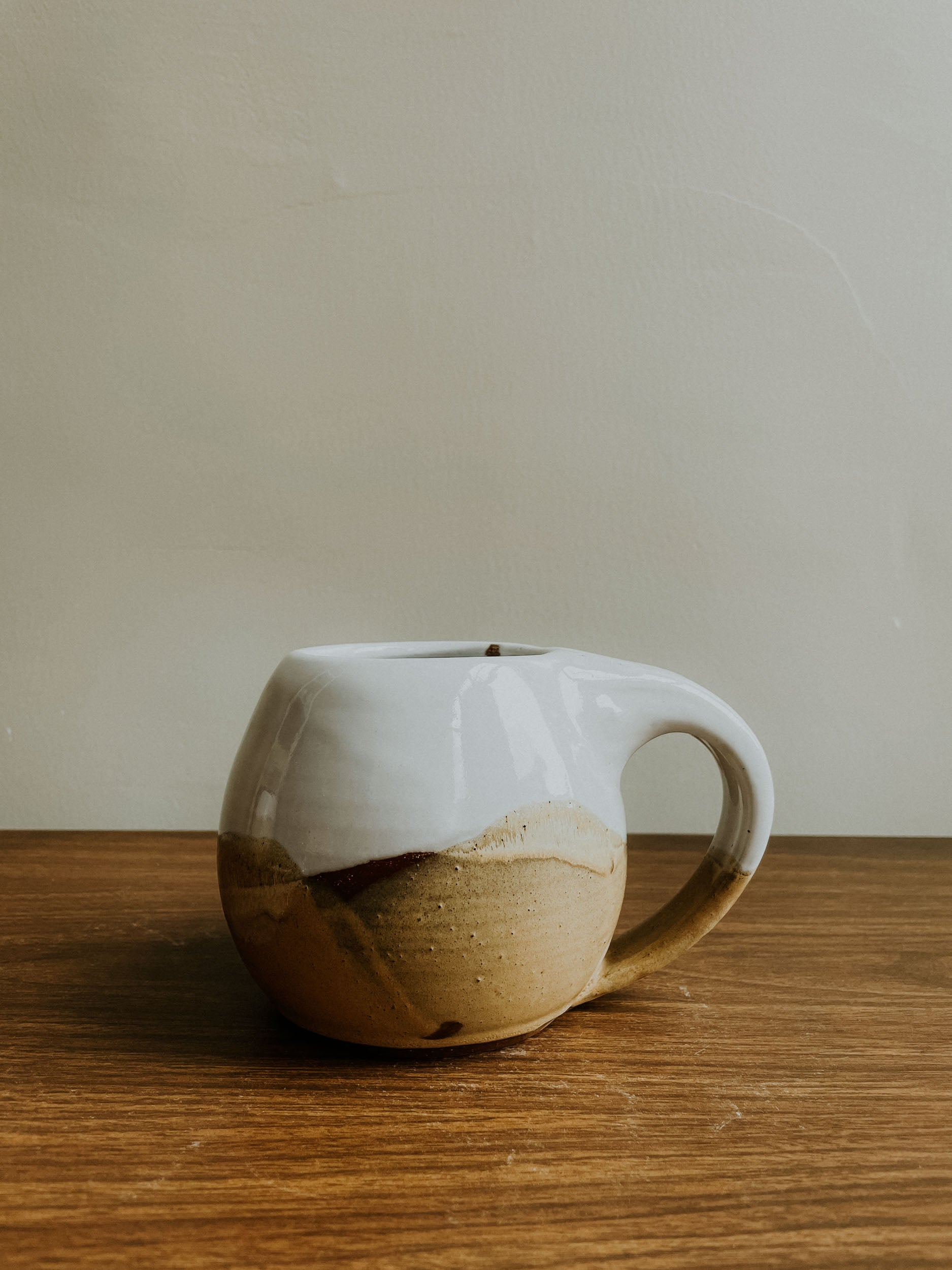 Round Mug - Gloss White x Finch