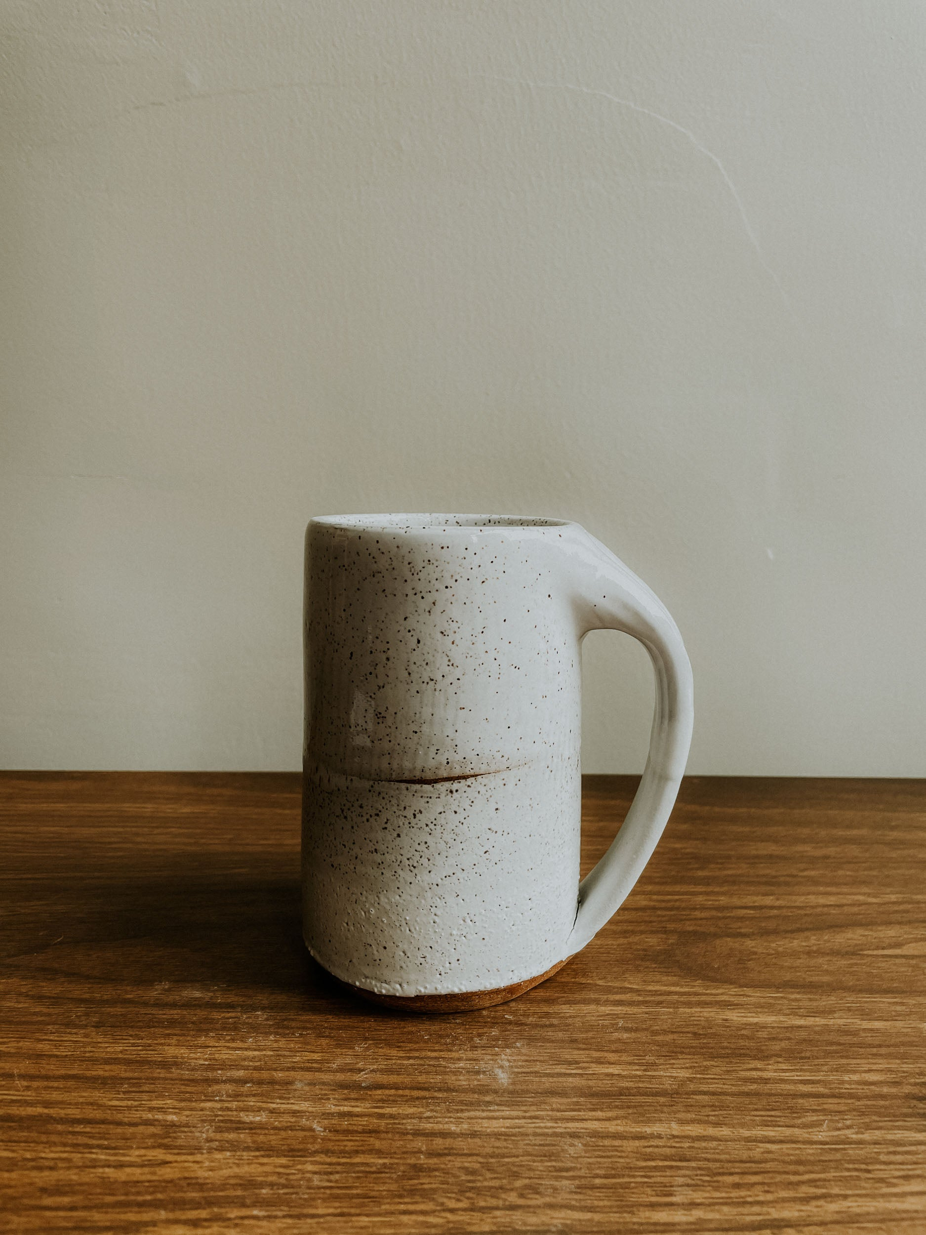 Tall Mug - Speckle Gloss White x Matte White