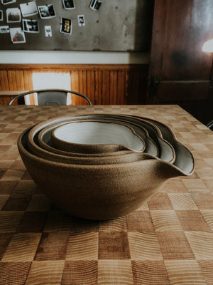 Mixing Bowl Set - Cabin in the Woods *Made to Order*