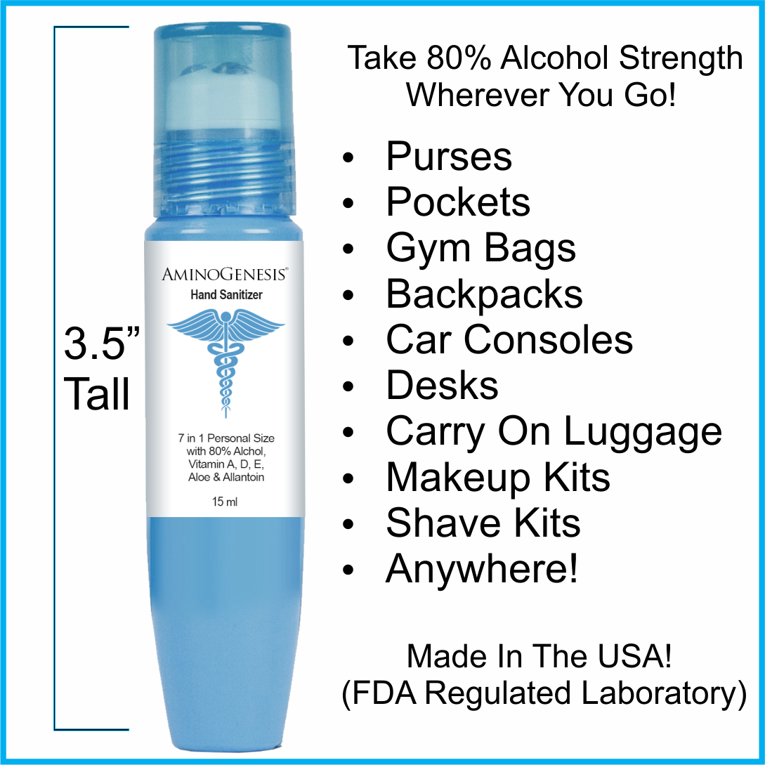 Personal Size Take Anywhere 80% Alcohol Hand Sanitizer 15 ml Image