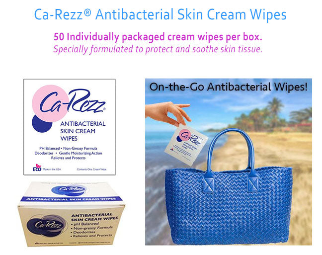 Ca Rezz Anti Bacterial Skin Cream Wipes (Box Of 50)