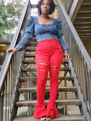 Chile Pepper Denim Pant