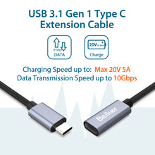 Load image into Gallery viewer, USB C Extension Cable-1 M