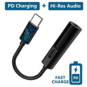 2 In 1 Type C Audio Charger Adapter
