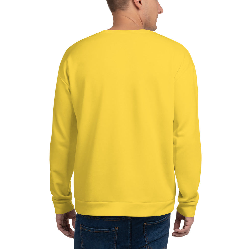 Mens Ndebele Arrow X Unisex Sweatshirt Yellow