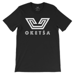 White Oketša Motif on Fine Jersey T-Shirt