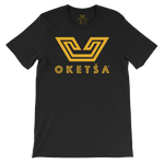 Yellow Oketša Motif on Fine Jersey T-Shirt