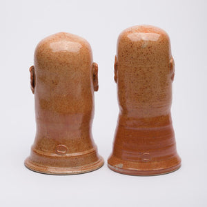 20cm & 21cm - Sculptured Decorative Heads - Orange (set of 2) - Atelier de Corium