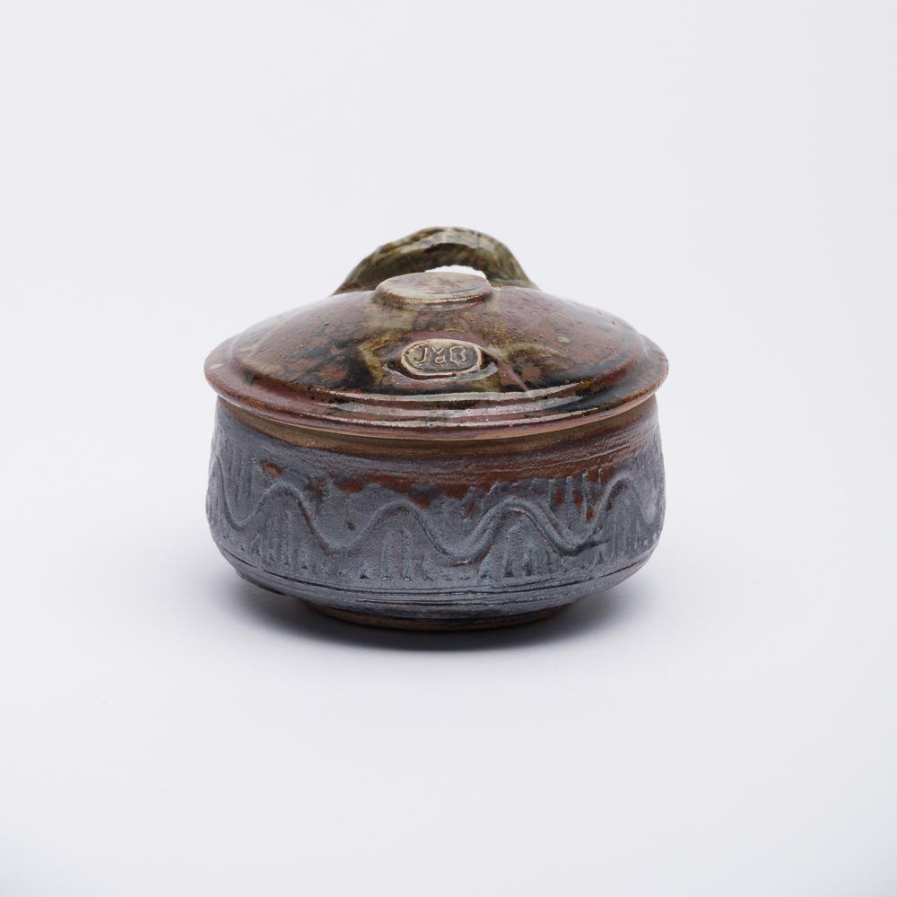 7cm - Mini Hand Decorated Box - Olive & Purple - Atelier de Corium