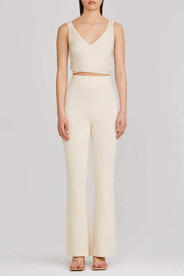 Significant Other high waisted, ribbed, stretch pant with elasticised waistband