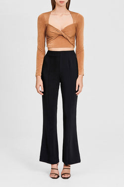 Significant Other Black, Flared, High Rise Ladies Pants