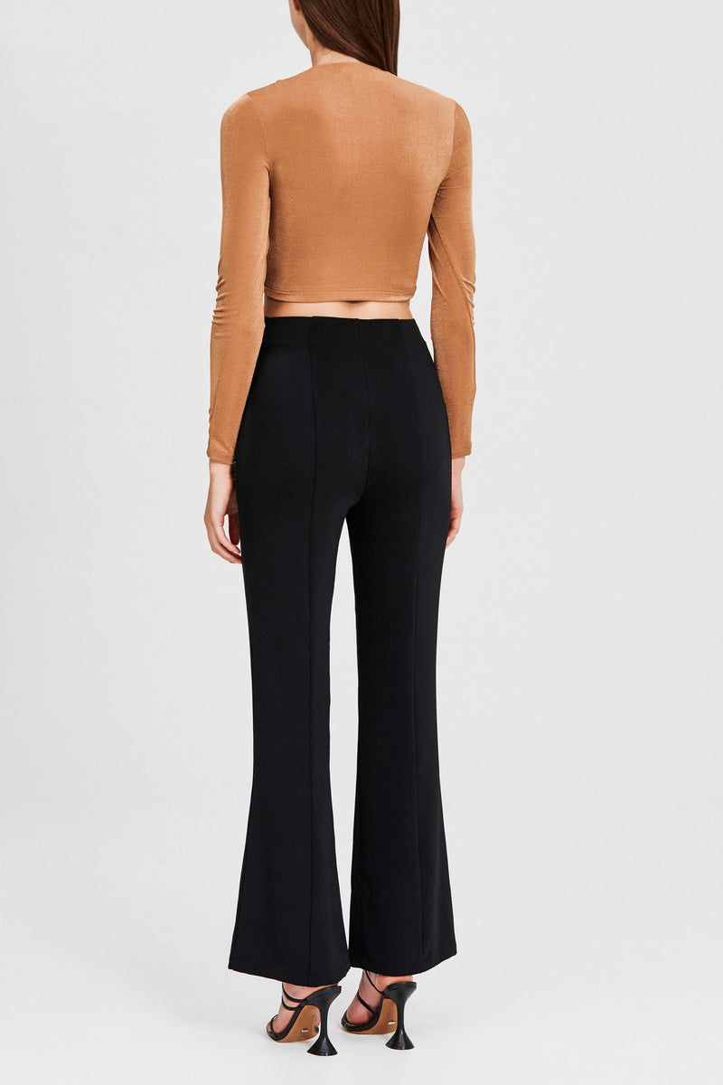 Significant Other Black, Flared, High Rise Ladies Pants - Back Detail