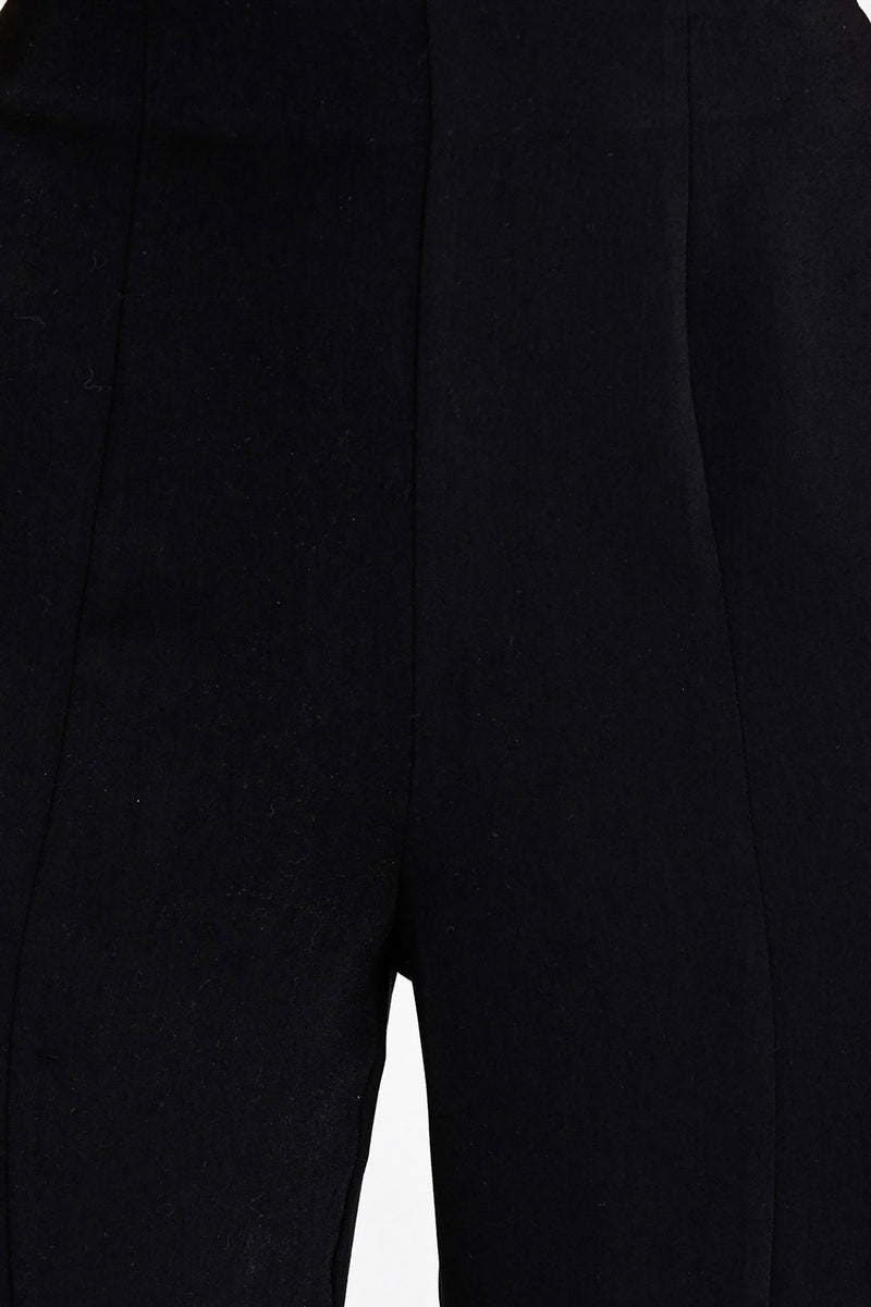 Significant Other Black, Flared, High Rise Ladies Pants - Centre Pleat Detail