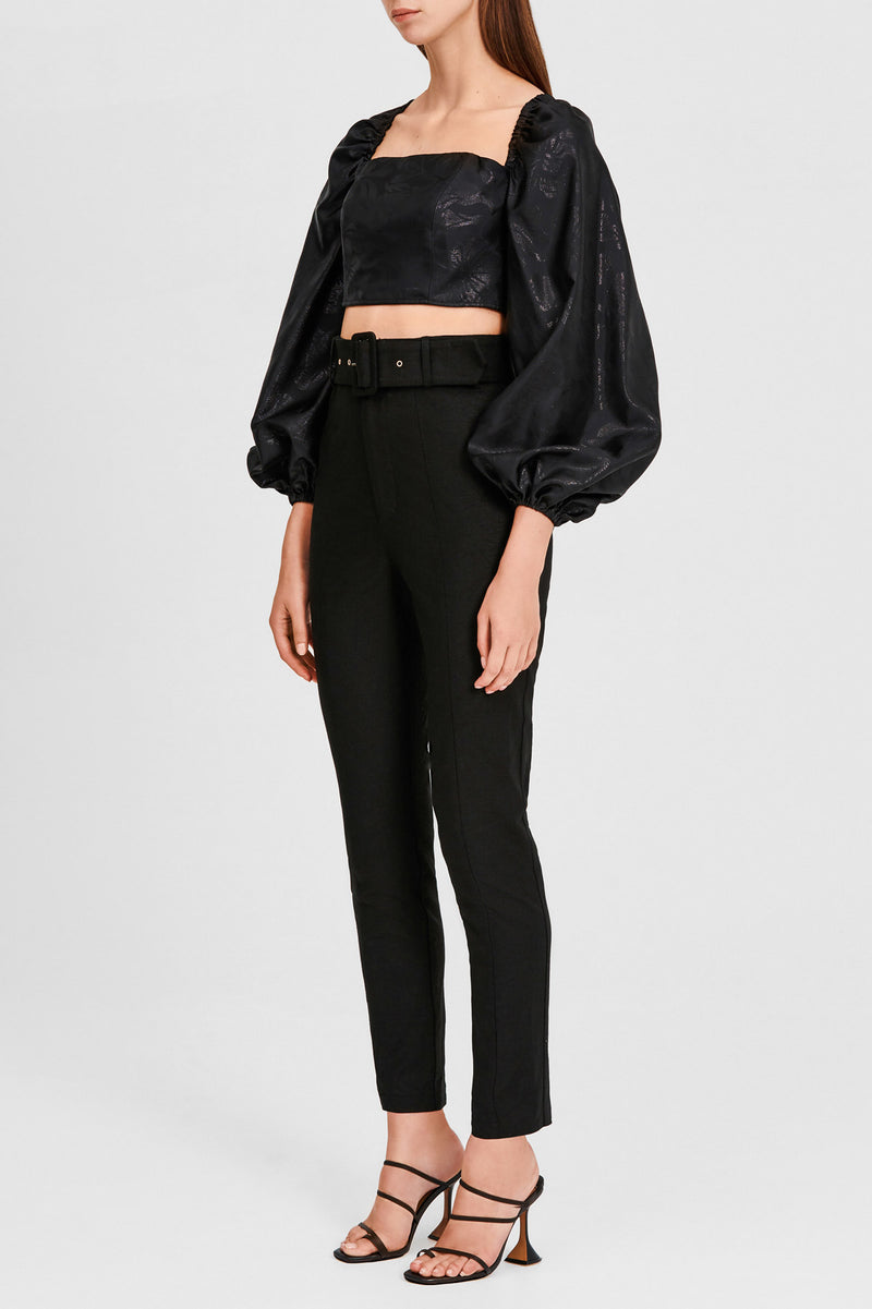 Significant Other Black Slim Leg, High Waisted Pants