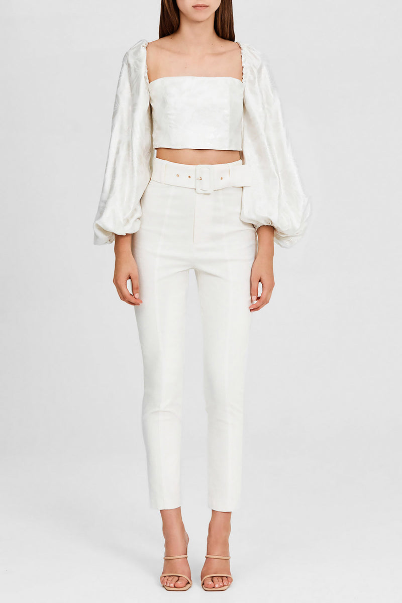 Significant Other Ivory, Slim Leg, High Rise Ladies Pants