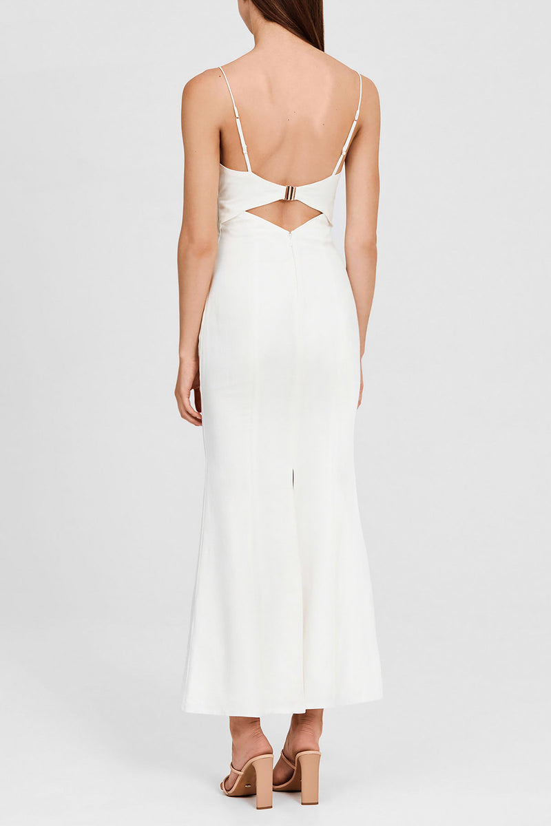 Significant Other Ivory Trumpet, Full-Length Dress - Back Detail