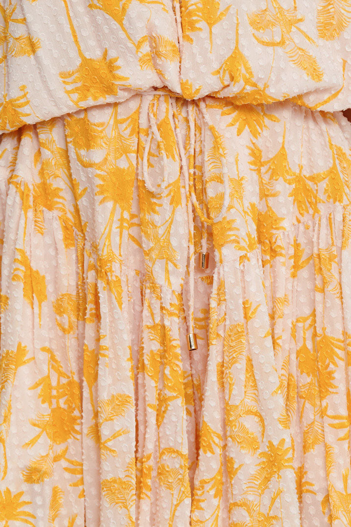 Significant Other Yellow Palm Patterned Fabric