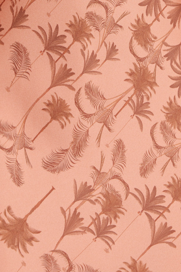 Significant Other - Peach Fabric with Palm Pattern