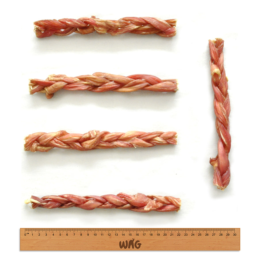WAG Large Braided Bully Stick Measurements