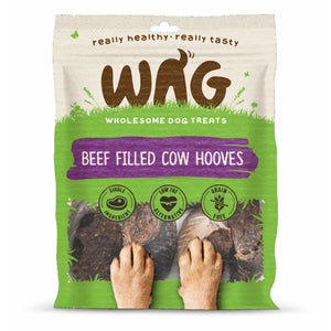 WAG Beef Filled Cow Hooves Pack