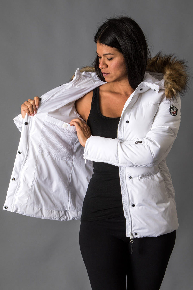 Blanche Puffy Short Jacket Womens