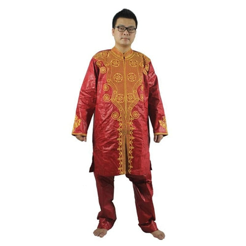 98714da9 MD men's top pant set 2 pieces outfit suit african men clothes bazin  african clothing for men 2019 dashiki shirt with trouser